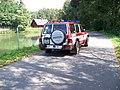 Nedamov, hasičské auto u Černého rybníka.jpg