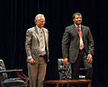 Neil deGrasse Tyson and Richard Dawkins at Howard University - September 28, 2010.jpg