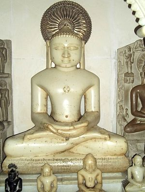 Neminatha - Image of Neminatha at a Jain temple in Bateshwar, Uttar Pradesh
