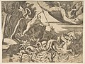 Neptune in his Chariot being drawn by seahorses, from the 'Division of the Universe' MET DP812464.jpg