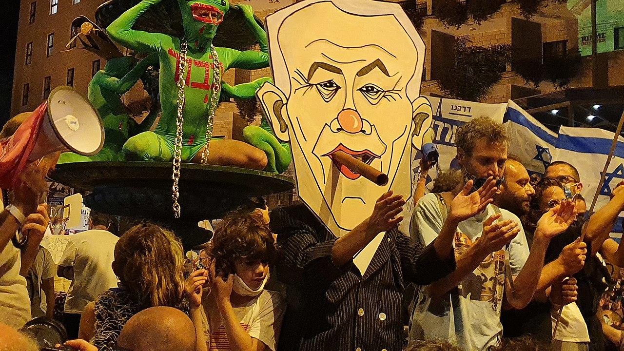 Netanyahu portrait Protests against Netanyahu 2020 Jerusalem.jpg