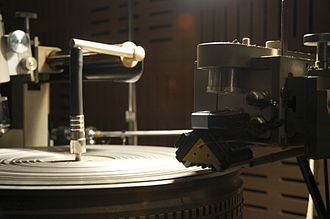 LP record - Neumann lathe with SX-74 cutting head