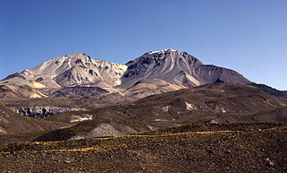 Taapaca Volcano in Chile