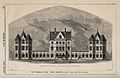 New Infirmary, Leeds, Yorkshire; panoramic view. Wood engrav Wellcome V0012810.jpg