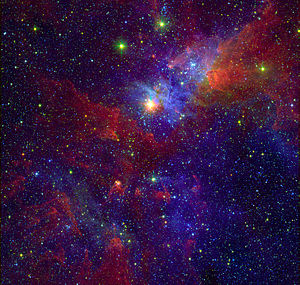 Variable star - A photogenic variable star, Eta Carinae, embedded in the Carina Nebula