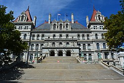 New York State Capitol building, close-up