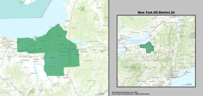 New York 's 24th congressional district - since January 3, 2013.