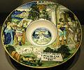 Ngv, francesco xanto avelli, piatto con didone che riceve enea a cartagine, 1520-25.JPG