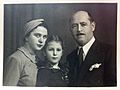 Nicolae Blatt with his wife and daughter in the 1940s.jpg