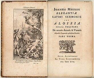 Nicolas Chorier - 1757 Latin edition of The School of Women