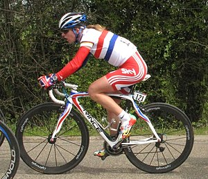 London–Surrey Cycle Classic - Nicole Cooke – seen here a year before in the Flèche Wallon, Belgium – accused the organisers of sexism