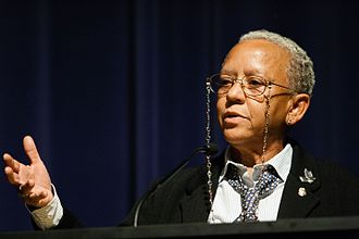 Historically black colleges and universities - Image: Nikki Giovanni speaking at Emory University 2008