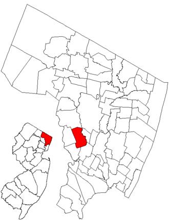 Saddle Brook, New Jersey - Image: Njmap 0257