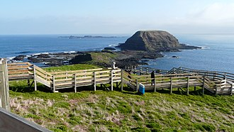 Phillip Island - 'The Nobbies': site of Captain Wetherall's 1826 flagstaff