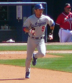 Nomar Garciaparra - Garciaparra with the Dodgers in 2008