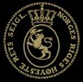 Norges Høyesteretts segl på sort.png