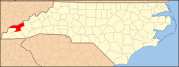 North Carolina Map Highlighting Swain County.PNG
