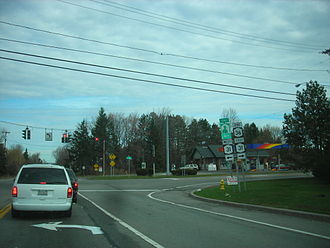 New York State Route 36 - Northern terminus of NY 36 at NY 31 in Ogden