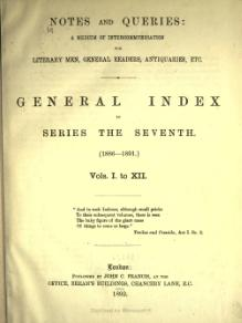 Notes and Queries - Series 7 - General Index.djvu
