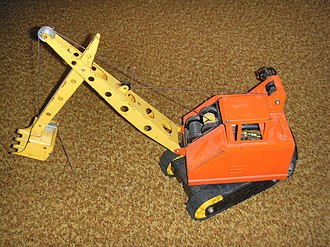 Nylint - An antique toy power shovel by Nylint