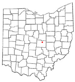 Location of St. Louisville, Ohio