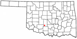 Location of Rush Springs, Oklahoma