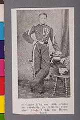 O Conde D' Eu em 1863, Oficial de Cavalaria do Exército Espanhol. (Foto Tirada em Barcelona)