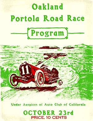 Portola Road Race - 1909 race program