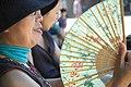 Obachan with a fan.jpg