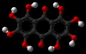 Octahydroxyanthraquinone - Image: Octahydroxyanthraqui none 3D balls