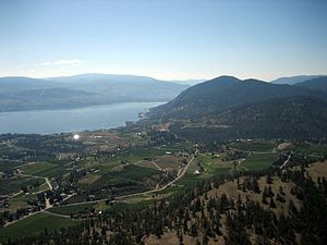 Summerland, British Columbia - View from Giants Head south-east to Lake Okanagan