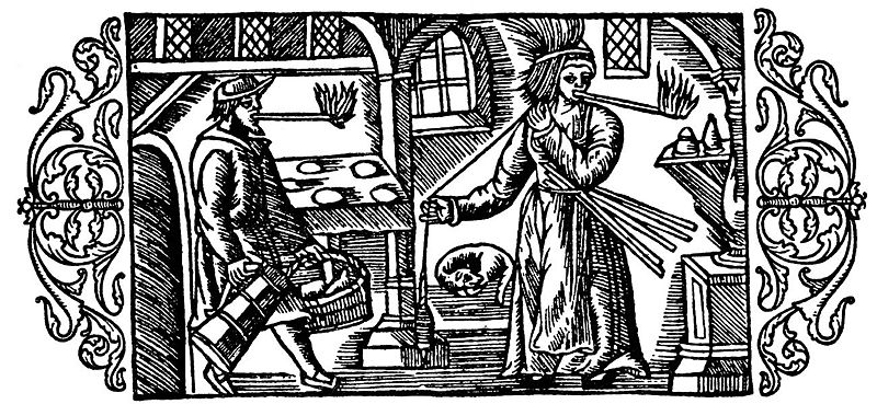 Datei:Olaus Magnus - About Lighting and Torches of Kindling.jpg