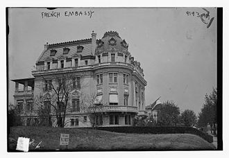 Embassy of France, Washington, D.C. - Old French Embassy in Washington, D.C., in 1917