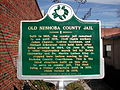 Old Neshoba County Jail Historial Marker December 9 2012.JPG