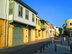 Old mansions houses in old Nicosia in the afternoon Republic of Cyprus.JPG