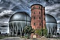 Old tower in front of more recent big gas reservoirs - Berlin.jpg