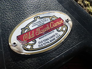 Old Town Canoe - Image: Old town canoe plate of authenticity 2012
