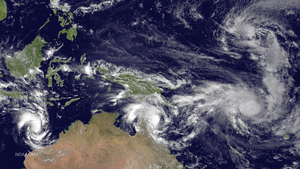Westerly wind burst - Image: Olwyn, Nathan, Pam and 03W March 11 2015 0330Z
