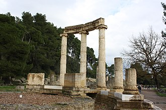 Eurydice I of Macedon - The Philippeion at Olympia, Greece, where once the statues of Eurydice I and her family were placed