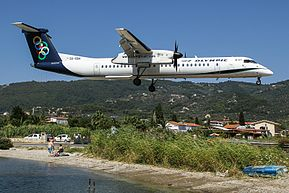 Olympic Air DHC-8-402Q on short finals at Skiathos.jpg