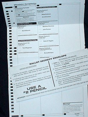 An Oregon mail-in ballot for a special electio...