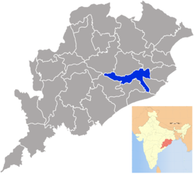 Localisation de District de Cuttackकटक जिला