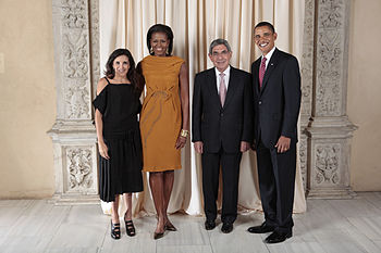 Oscar Arias Sanchez with Obamas