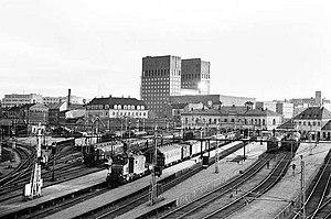 1872 in Norway - Oslo Vestbanestasjon (Oslo V) opens