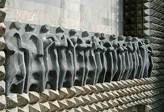 Jorge Oteiza - Oteiza Apostoluak (The apostles), sculptures on the Monastery of Arantzazu, hollowed out stone, 1950