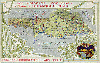 Léon M'ba - Map of Oubangui-Chari, c. 1910