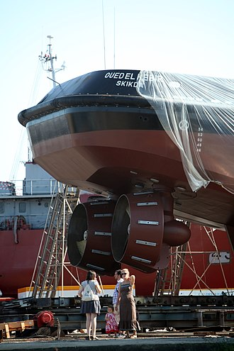 Azimuth thruster - Azimuth thrusters on the tug Oued el Kebir - note the Kort nozzles