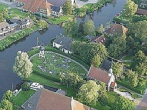 Broek, Friesland - Aerial view over Broek