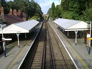 New Guildford line - Oxshott railway station on the New Guildford line.
