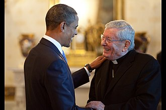 Pietro Sambi - Archbishop Sambi with U.S. President Barack Obama